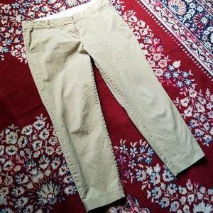J. Crew ankle pants khaki sz 10